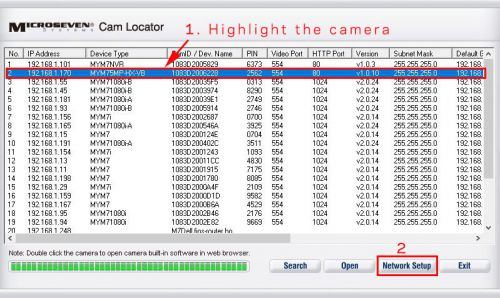 Cam Locator Window.